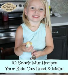10 Snack Mix Recipes for Kids PLUS Printable Recipes for Beginning Readers