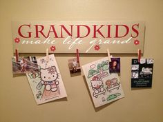 Grandkids Make Life Grand, Mothers Day, Grandparents, Gifts for Mom, Gifts for Grandma, Wood Sign By ToYourDoorDecor on Etsy! on Etsy, $38.00