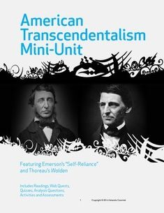 thoreau walden vs emerson s self reliance Self-reliance as expressed by emerson and thoreau in america, in the mid 19th century, the movement known as american transcendentalism began.