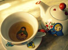 Tea time: Mamushka's tea for one.