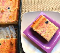 Cakebatter Cheesecake Bars