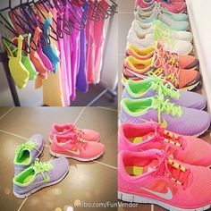 This is what I want my running closet to look like