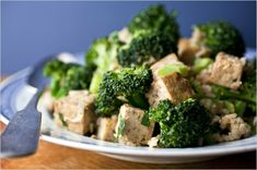 Fried rice with tofu and broccoli