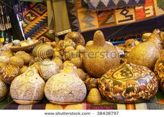 Beautiful hand carved gourds,