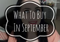 What To Buy in September List - What to buy this month at the BEST prices even WITHOUT coupons!