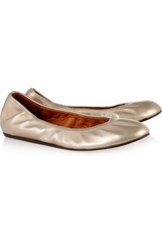 Lanvin | Metallic leather ballet flats