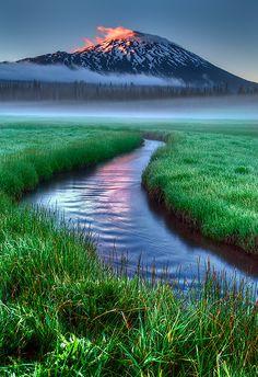Sparks Lake, Bend, Oregon by Marcio Dufranc via 500px Travel Photos, Spark Lake, Sunset, Natural Body, Sunris, Bend Oregon, Lakes, Beauti, Place