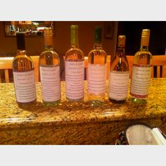 Bridal shower gift-- Make your own wine labels & poems for the bride and groom to open on different occasions! Wedding night, first anniversary, Christmas eve, first dinner party, first fight and first baby!