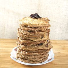 Oatmeal Cookie Pancakes soaked. Whole foods cooking blog
