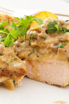 Chicken with Wild Mushroom and Balsamic Cream Sauce #Recipe