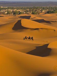 Sand Dunes, Merzouga, Morocco, North Africa, Africa