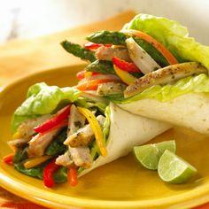 Pork Loin Tortilla Wraps healthy meals, tortilla recipes, pork loin, tortilla wrap, chicken wrap, roasted vegetables, healthy wraps, healthi recip, pork recip
