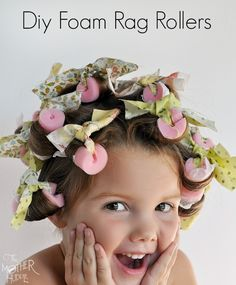 Diy Foam Rag Rollers - comfy enough to sleep in, and they make beautiful curls