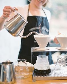 A pop-up coffee bar complemented breakfast snacks. See more in our A Romantic, Rustic Wedding in Columbia, South Carolina gallery!