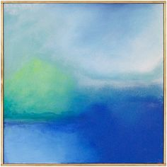 """Jenny Prinn Storm Clouds Rolling Acrylic and Mixed Media on canvas. Handmade framed by the artist. 20"""" x 20"""""""