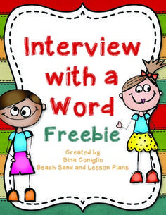 Interview with a Word Freebie - Creative way to explore vocabulary!