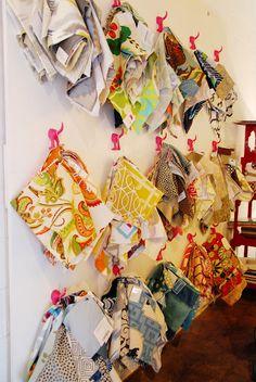 display ideas  fabric sample storage