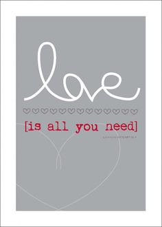 love is all you need – Free Printable