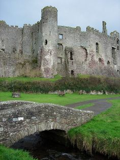 Laugharne Castle, Wales.  It was established in 1116 and rebuilt by the Normans in 1215.