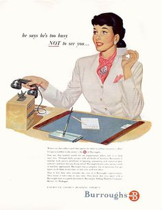 He's too busy not to see you... #vintage #office #secretary #1940s