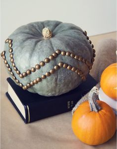 nailhead trim pumpkin by lovely indeed via kishani perera blog