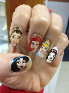 Disney Princesses Nail art