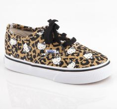 Kawaii kicks for kids: #HelloKitty Vans with awesome leopard print