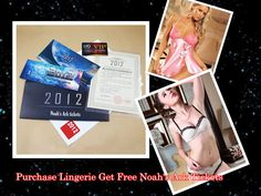 Purchase Lingerie to get Noah's Ark tickets!! The best Christmas Gift for Your Lover!!  http://www.lingerie-life.co.uk/