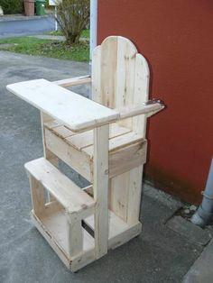 Brico palette de recup by rolandvermaut on pinterest lit palette palette t - Chaise en bois de palette ...