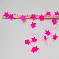 star garland DIY ...I can't get enough of this color. I just can't.