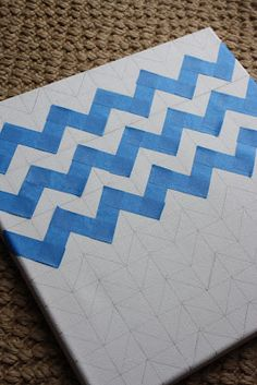 How To: Chevron Painted Canvas