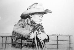 Someday by Joe Belt  The original drawing was done in pencil and limited edition prints were published to benefit the West Texas Boys Ranch