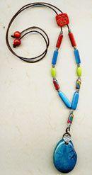 Necklace - Southwest @antelopebeads.com #tagua #beading