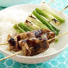 Teriyaki Chicken and Scallion Kabobs