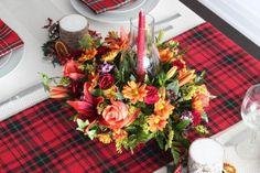 DIY Tartan Thanksgiving Tablescape