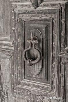 old grey door...