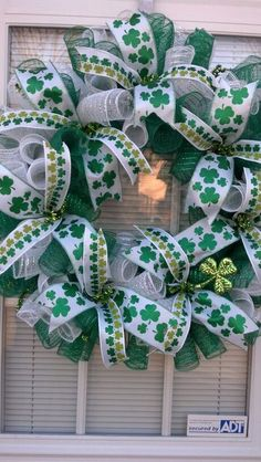 St. Patricks Day Wreath by BCsCraftyCreations on Etsy, @Susan Caron Caron Caron Caron Matthews irish wreath, stpatrick, st patricks day wreath