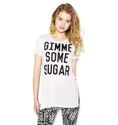 """Gimme Some Sugar"" Side Slit Tunic Tee"