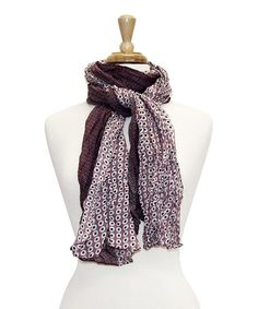 Another great find on #zulily! Pink Two-Tone Little Dots Scarf by Tickled Pink #zulilyfinds