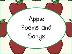 Apple Poems and Songs
