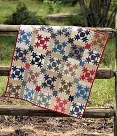 """Quilt blocks were often named after common household items and everyday things, as with this """"Broken Dishes"""" block."""