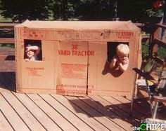 Best day in the neighborhood was when someone's parents got a new appliance... and the kids got the box!