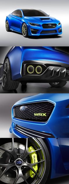 2013 Subaru WRX Concept. Nice DNA change. Back on track Subaru.