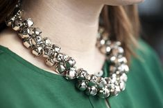 DIY Jingle Bell Necklace #holiday #jewelry #bells