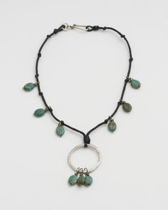 Knotty necklace with link attached