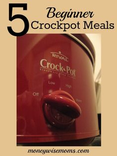 "5 Beginner Crockpot Meals {that anyone can make} | Easy ""dump and dash"" meals, some with just two ingredients! to help you get dinner on the table 