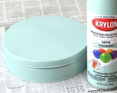 Spray paint my lame holiday tins to upcycle into cute gift.