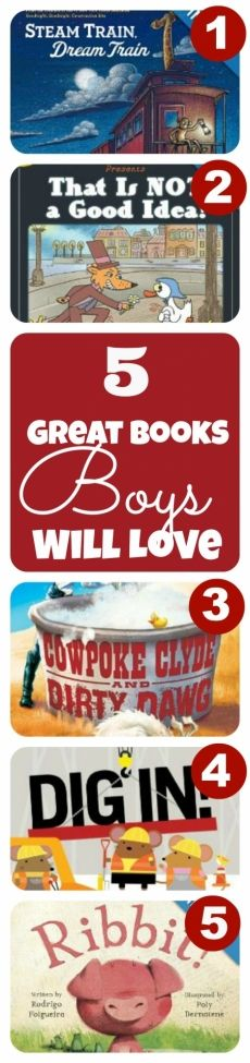 5 Good Books for Boys We're Loving This Week http://spaceshipsandlaserbeams.com/blog/2013/07/boyish-charm/5-books-were-loving-this-week