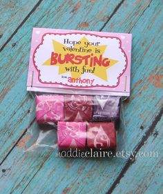Personalized Valentine Treat Bag Toppers and Bags