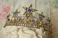 antique french  star crown